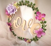 Kruh květinový - love  - 20 cm