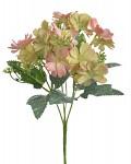 Umělá kytice klematis - růžovo-oranžová