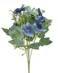 Umělá kytice klematis - zeleno-modrá