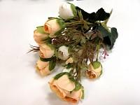 Umělá kytice - rannunculus krémovo-lososový mini