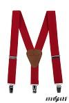 Chlapecké šle - červené - 140 cm