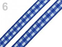 Stuha kostkovaná 10 mm - modrá - 1  m