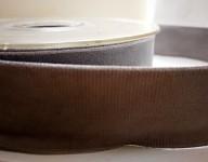 Sametová stuha oboulící - šedá - 25 mm/1 m