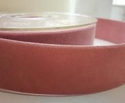 Sametová stuha oboulící - starorůžová - 25 mm/1 m