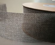 Stuha - imitace pytloviny - šedá - 40 mm/1 m