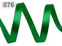 Stuha saténová 12mm - irská zelená - 1m