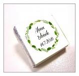 Čokoládka svatební mini - věneček green