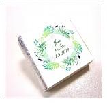 Čokoládka svatební mini - věneček listy