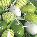 Ubrousky - velikonoční zeleno-žlutá vajíčka