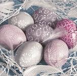 Ubrousky - velikonoční pastelová vajíčka
