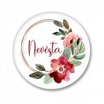 Placka - velká - nevěsta květinový věnec - 1ks