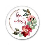 Placka - velká - tým nevěsty květinový věnec - 1ks