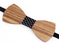 Pánský dřevěný motýlek - přírodní