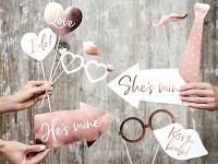 Fotorekvizity - svatební bílo-růžové