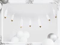 Girlanda - pírka bílo-zlatá