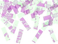Vystřelovací konfety 60 cm - holografické bílé