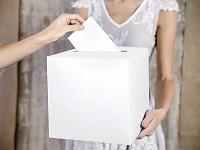 Krabička na peníze (přání) - ivory perleťová