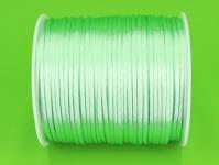 Saténová šňůrka mátová - 2 mm/ 1 m
