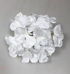 Vazbový květ hortenzie - 16 cm - bílý