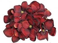 Vazbový květ hortenzie - vínový malý