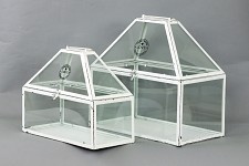 Dekorační bílý skleník - velký