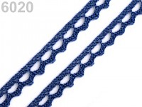 Krajka paličkovaná 9 mm   - tm.modrá - 1m