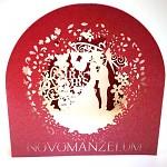 Blahopřání - svatební Y vyřezávané