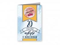 Blahopřání s plackou - 20. narozeniny