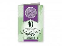 Blahopřání s plackou - 40. narozeniny