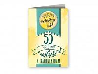 Blahopřání s plackou - 50. narozeniny