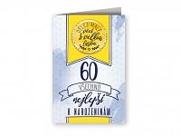 Blahopřání s plackou - 60. narozeniny