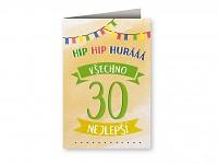 Blahopřání  Hip hip hurá - 30. narozeniny