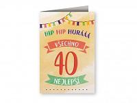 Blahopřání  Hip hip hurá - 40. narozeniny