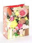 Dárková taška Nekupto - LBM  růže s mašlí