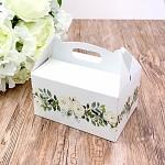 Krabička na výslužku s ouškem velká - kvémové květy