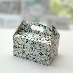 Krabička na výslužku s ouškem velká - pastelové květy