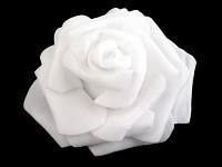 Pěnové hlavičky růží s lepítky - bílé - 10ks