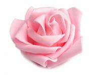 Růžička velká pěnová -  růžová - 1ks