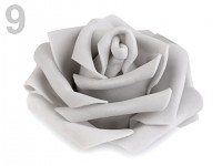 Růžička velká pěnová - šedá - 1ks