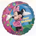 Foliový balonek šťastné narozeniny  45cm - Minnie