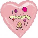 Fóliový balónek srdce - Je to holka!