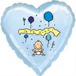 Fóliový balónek srdce - Je to kluk!