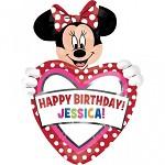Fóliový balónek - Minnie s písmenky