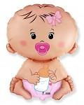 Foliový balónek - dětská láhev - je to holka - 80cm