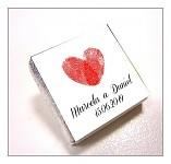 Čokoládka svatební mini - otisk srdce