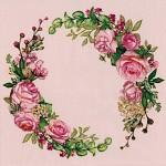 Ubrousky- růžové - květinový věnec
