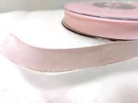 Stuha taftová perleťová 12 mm - růžová - 1 m