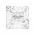 Párty ubrousky -růžovozlatý puntík - 16ks