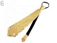 Party kravata s flitry - zlatá