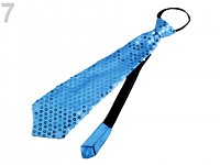 Party kravata s flitry - modrá